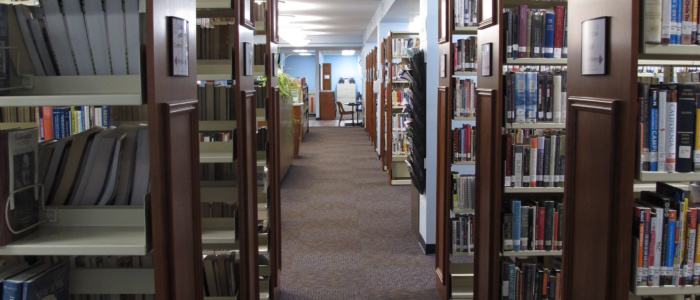 main library nonfiction and reference stacks