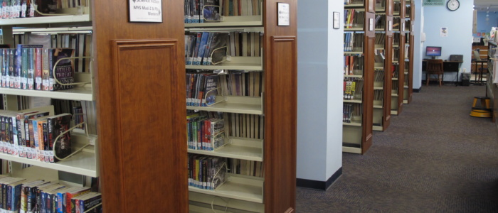 main library fiction section